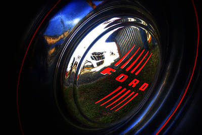 Photograph - 1948 Ford Truck Hubcap by Bill Owen
