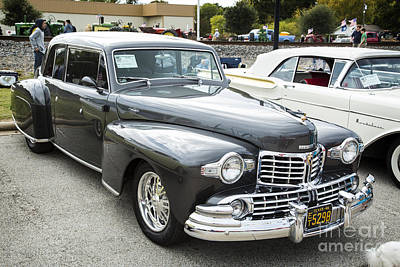 Photograph - 1948 Lincoln Continental Car Or Automobile Complete In Color  31 by M K Miller