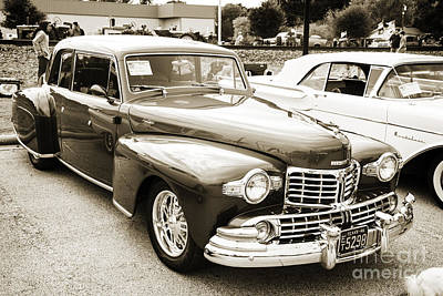 Photograph - 1948 Lincoln Continental Car Or Automobile Complete In Sepia  31 by M K Miller