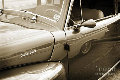 Photograph - 1948 Lincoln Continental Car Or Automobile Door In Sepia  3157.0 by M K Miller