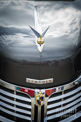 Photograph - 1948 Lincoln Continental Car Or Automobile Emblem In Color  3156 by M K Miller