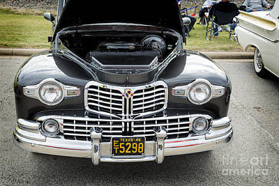 Photograph - 1948 Lincoln Continental Car Or Automobile Front End In Color  3 by M K Miller