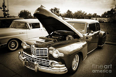 Photograph - 1948 Lincoln Continental Car Or Automobile In Sepia  3154.01 by M K Miller