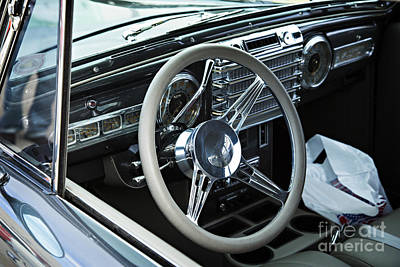 Photograph - 1948 Lincoln Continental Car Or Interior In Sepia  3159.02 by M K Miller