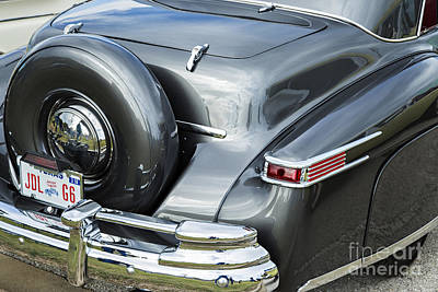 Photograph - 1948 Lincoln Continental Car Or Spare Tire In Color  3158.02 by M K Miller