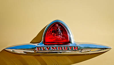 1948 Photograph - 1948 Plymouth Deluxe Emblem by Jill Reger