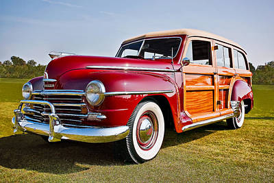 Old Woody Station Wagon Wall Art - Photograph - 1948 Plymouth Special Deluxe by Marcia Colelli