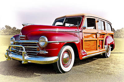Woody Photograph - 1948 Plymouth Special Deluxe Station Wagon by Marcia Colelli