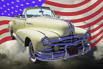 Photograph - 1948 Pontiac Silver Streak With American Flag by Keith Webber Jr