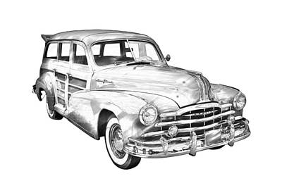 Photograph - 1948 Pontiac Silver Streak Woody Illustration by Keith Webber Jr
