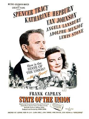 1948 - State Of The Union Motion Picture Poster - Spencer Tracy - Katherine Hepburn - Mgm - Color Art Print