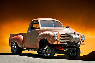 Street Rod Photograph - 1948 Studebaker Gas'r Up by Dave Koontz