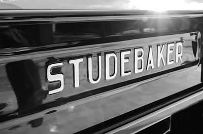 Photograph - 1948 Studebaker M15a Pickup Truck Tail Gate Emblem by Jill Reger