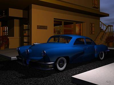 Digital Art - 1948 Tucker by John Pangia