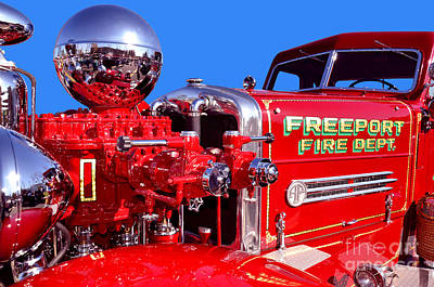 1949 Ahrens Fox Piston Pumper Fire Truck Art Print by Jim Carrell