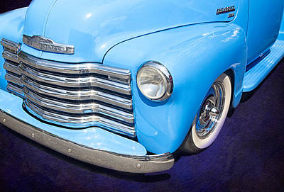 Photograph - 1949 Blue Chevrolet Truck by Susan Candelario