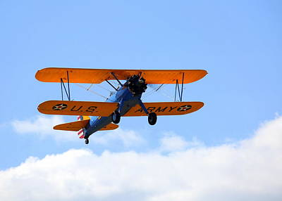 Photograph - 1949 Boeing Pt-17 Stearman N4737v Climbing Out by John King