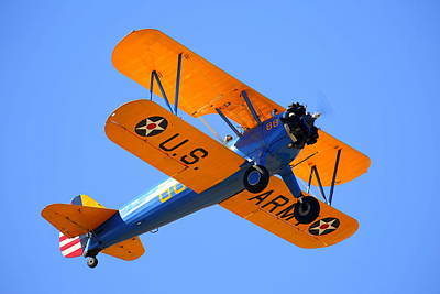 Photograph - 1949 Boeing Pt-17 Stearman N4737v by John King