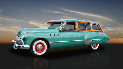 Photograph - 1949 Buick Super Woody by Frank J Benz