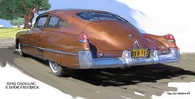 1949 Cadillac Fastback Art Print by RG McMahon