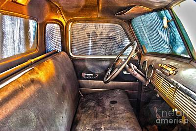 Photograph - 1949 Chevy Truck Cab by D Wallace
