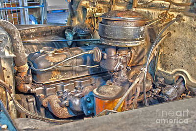 1949 Chevy Truck Engine Art Print by D Wallace