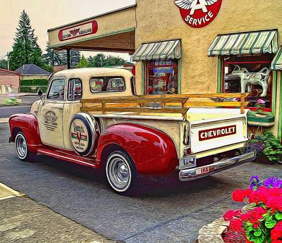 Photograph - 1949 Chevy Truck by Thom Zehrfeld