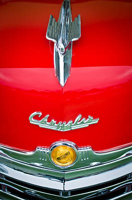 Hood Ornament Photograph - 1949 Chrysler Town And Country Convertible Hood Ornament And Emblems by Jill Reger
