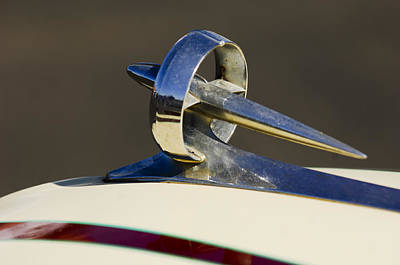 1949 Photograph - 1949 Custom Buick Hood Ornament by Jill Reger