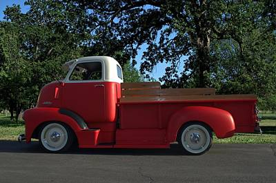 Photograph - 1949 Gmc Coe Custom Pickup Truck by Tim McCullough