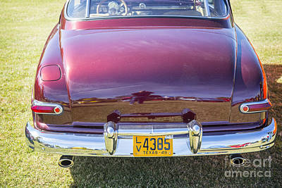 1949 Mercury Coupe Back Side In Color 3041.02 Print by M K  Miller