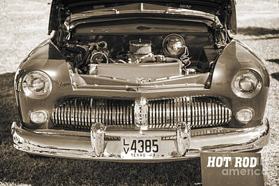 1949 Mercury Coupe Front Grill Sepia 3038.01 Print by M K  Miller