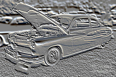Photograph - 1949 Mercury Coupe In Metal Print 3036.05 by M K Miller