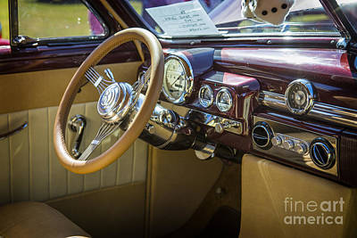 1949 Mercury Coupe Interior In Color 3040.02 Print by M K  Miller