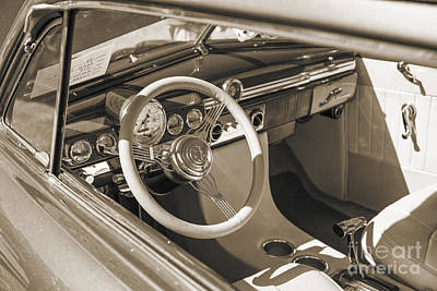 1949 Mercury Coupe Interior Sepia 3037.01 Print by M K  Miller