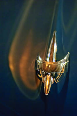 Hoodies Photograph - 1949 Mercury Woody Wagon Hood Ornament by Jill Reger