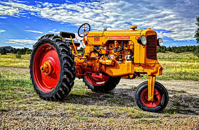 Photograph - 1949 Minneapolis Moline Tractor by Ken Smith