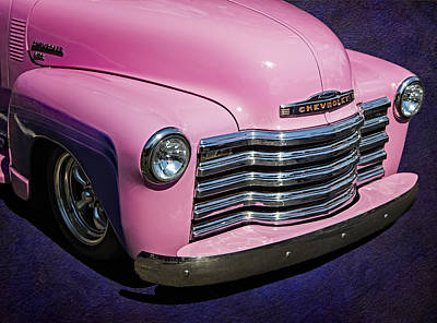 Photograph - 1949 Pink Chevrolet Truck by Susan Candelario
