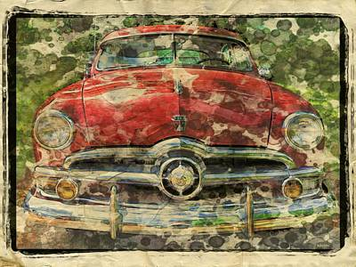 Photograph - 1949 Red Ford Coupe by Rebecca Korpita