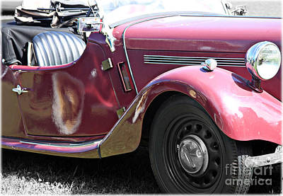 Antique Cars Digital Art - 1949 Singer Roadster  by Steven Digman