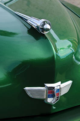 Car Mascots Photograph - 1949 Studebaker Champion Hood Ornament by Jill Reger