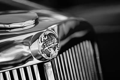 Photograph - 1949 Triumph 2000 Roadster Grille Emblem -0681bw by Jill Reger