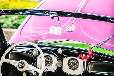 Photograph - 1949 Volkswagen Vw Hebmuller Cabriolet Steering Wheel -1207p by Jill Reger