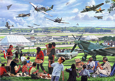 1950 Airshow Art Print by MGL Meiklejohn Graphics Licensing