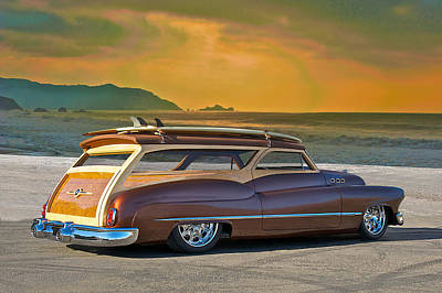 Fifties Buick Photograph - 1950 Buick Woody Wagon Iv by Dave Koontz