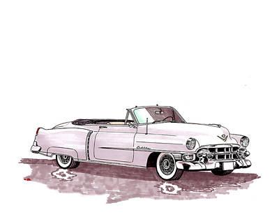 Painting - 1953 Cadillac El Dorado by Jack Pumphrey