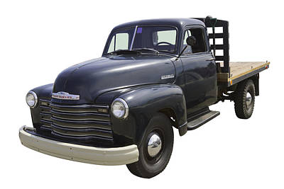 Photograph - 1950 Chevrolet Flat Bed Pickup Truck by Keith Webber Jr