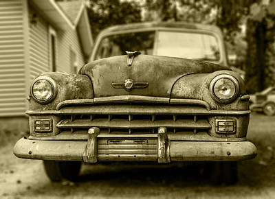 Photograph - 1950 Chrysler Windsor Frontal by Kathleen Scanlan