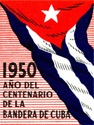 Historicimage Painting - 1950 Cuban Flag Centennial by Historic Image