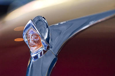 1950 Desoto Custom Sedan Hood Ornament Art Print by Jill Reger